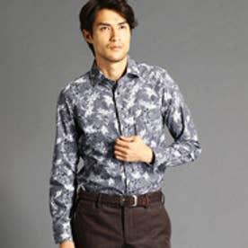 ムッシュ ニコル MONSIEUR NICOLE 【ex/tra】フラワー&ハンドトゥースシャツ (60ブルー)