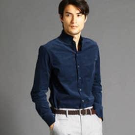 ムッシュ ニコル MONSIEUR NICOLE コーデュロイスタンドカラーシャツ (60ブルー)