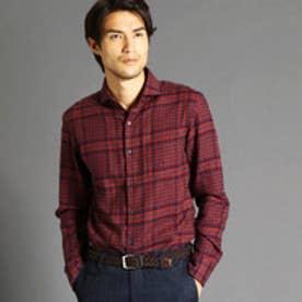 ムッシュ ニコル MONSIEUR NICOLE 英国調オリジナルグレンチェックシャツ (16レンガ)