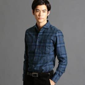 ムッシュ ニコル MONSIEUR NICOLE 英国調オリジナルグレンチェックシャツ (60ブルー)