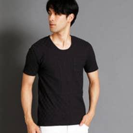 ニコルクラブフォーメン NICOLE CLUB FOR MEN 市松柄UネックTシャツ (49ブラック)