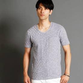ニコルクラブフォーメン NICOLE CLUB FOR MEN 市松柄UネックTシャツ (91その他2)