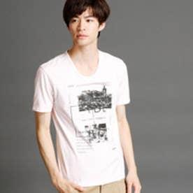 ニコルクラブフォーメン NICOLE CLUB FOR MEN フォト×ボックスプリントTシャツ (08ピンク)