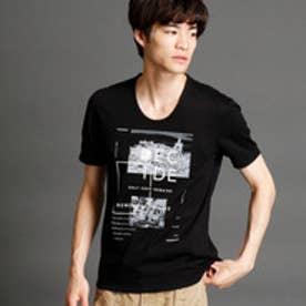ニコルクラブフォーメン NICOLE CLUB FOR MEN フォト×ボックスプリントTシャツ (49ブラック)