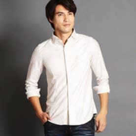 ニコルクラブフォーメン NICOLE CLUB FOR MEN ホリゾンタルカラーシャツ (18ベージュ)
