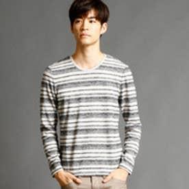 ニコルクラブフォーメン NICOLE CLUB FOR MEN マルチボーダー柄クルーネックTシャツ (91その他2)
