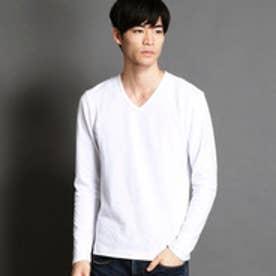 ニコルクラブフォーメン NICOLE CLUB FOR MEN VネックロングTシャツ (09ホワイト)