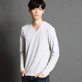 ニコルクラブフォーメン NICOLE CLUB FOR MEN VネックロングTシャツ (19ライトグレー)