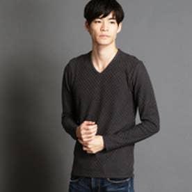 ニコルクラブフォーメン NICOLE CLUB FOR MEN VネックロングTシャツ (39チャコールグレー)