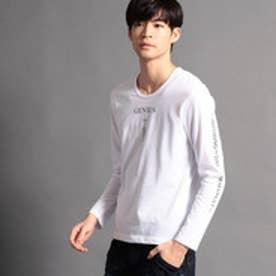 ニコルクラブフォーメン NICOLE CLUB FOR MEN アラカルトプリント長袖Tシャツ (09ホワイト)