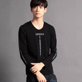 ニコルクラブフォーメン NICOLE CLUB FOR MEN アラカルトプリント長袖Tシャツ (49ブラック)