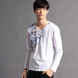 ニコルクラブフォーメン NICOLE CLUB FOR MEN アラカルトプリント長袖Tシャツ (91その他2)