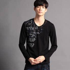 ニコルクラブフォーメン NICOLE CLUB FOR MEN アラカルトプリント長袖Tシャツ (92その他3)