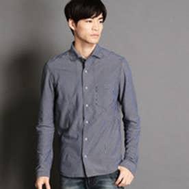 ニコルクラブフォーメン NICOLE CLUB FOR MEN ホリゾンタルカラー長袖カットシャツ (67ネイビー)