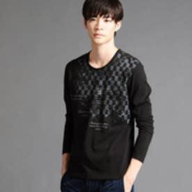 ニコルクラブフォーメン NICOLE CLUB FOR MEN アラカルトプリントロングスリーブTシャツ (49ブラック)