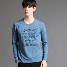 ニコルクラブフォーメン NICOLE CLUB FOR MEN アラカルトプリントロングスリーブTシャツ (67ネイビー)