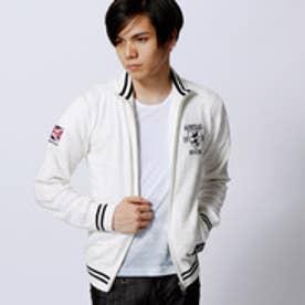 ニコルクラブフォーメン NICOLE CLUB FOR MEN Admiral別注ジップアップカーディガン (09ホワイト)