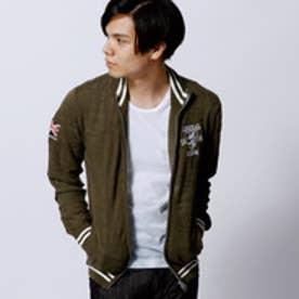 ニコルクラブフォーメン NICOLE CLUB FOR MEN Admiral別注ジップアップカーディガン (46カーキ)