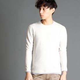 ニコルクラブフォーメン NICOLE CLUB FOR MEN フェイクレイヤード総柄Tシャツ (09ホワイト)