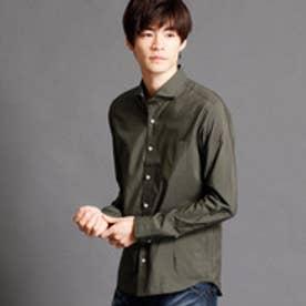 ニコルクラブフォーメン NICOLE CLUB FOR MEN ホリゾンタルカラーシャツ (46カーキ)