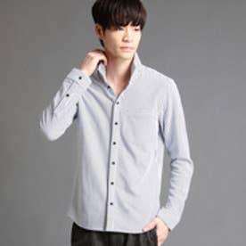 ニコルクラブフォーメン NICOLE CLUB FOR MEN ストライプ柄長袖カットシャツ (09ホワイト)