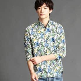 ニコルクラブフォーメン NICOLE CLUB FOR MEN 花柄七分袖シャツ (67ネイビー)