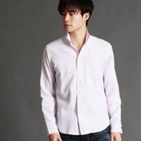 ニコルクラブフォーメン NICOLE CLUB FOR MEN 格子柄イタリアンカラーシャツ (08ピンク)