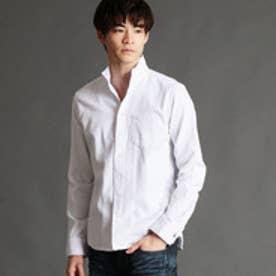 ニコルクラブフォーメン NICOLE CLUB FOR MEN 格子柄イタリアンカラーシャツ (09ホワイト)