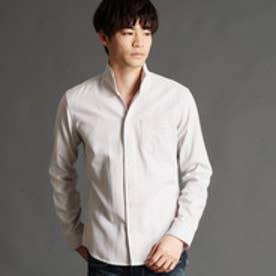 ニコルクラブフォーメン NICOLE CLUB FOR MEN 格子柄イタリアンカラーシャツ (29グレー)