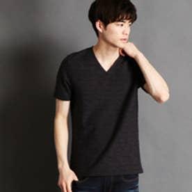 ニコルクラブフォーメン NICOLE CLUB FOR MEN タックボーダー半袖VネックTシャツ (49ブラック)