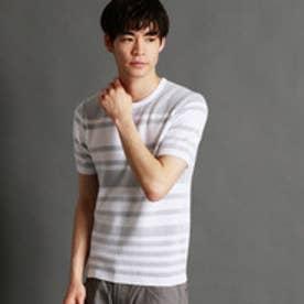 ニコルクラブフォーメン NICOLE CLUB FOR MEN 半袖ニットプルオーバー (09ホワイト)