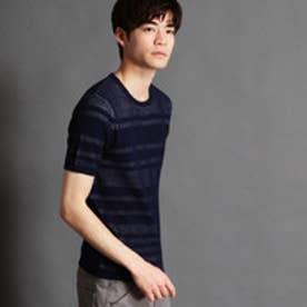 ニコルクラブフォーメン NICOLE CLUB FOR MEN 半袖ニットプルオーバー (67ネイビー)