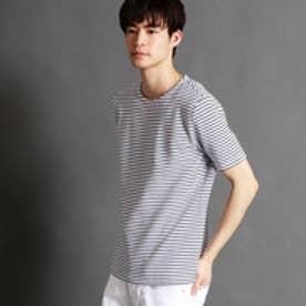 ニコルクラブフォーメン NICOLE CLUB FOR MEN リップルボーダーTシャツ (67ネイビー)