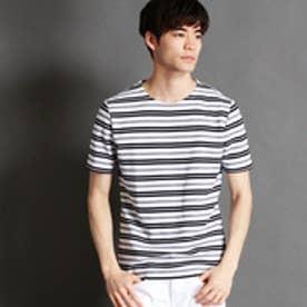 ニコルクラブフォーメン NICOLE CLUB FOR MEN リップルボーダーTシャツ (92その他3)