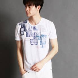 ニコルクラブフォーメン NICOLE CLUB FOR MEN グラデーションフォトプリントTシャツ (09ホワイト)