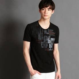 ニコルクラブフォーメン NICOLE CLUB FOR MEN グラデーションフォトプリントTシャツ (49ブラック)
