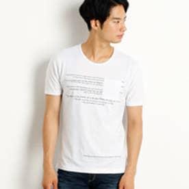 ニコルクラブフォーメン NICOLE CLUB FOR MEN 刺繍&プリントロゴTシャツ (09ホワイト)