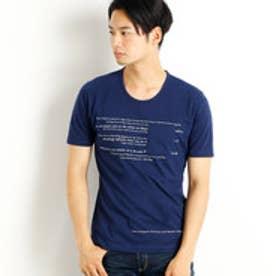 ニコルクラブフォーメン NICOLE CLUB FOR MEN 刺繍&プリントロゴTシャツ (67ネイビー)