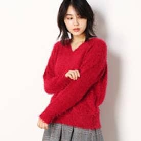 セレクション レディス SELECTION LADYS ふわふわシャギーVネックニット (08ピンク)