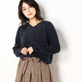 セレクション レディス SELECTION LADYS ふわふわシャギーVネックニット (67ネイビー)