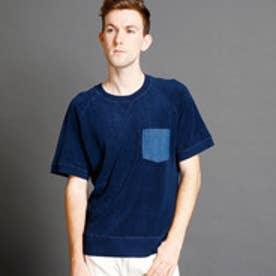 ヴィタル ムッシュ ニコル vital MONSIEUR NICOLE リメイク風スウェットTシャツ (60ブルー)