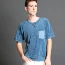 ヴィタル ムッシュ ニコル vital MONSIEUR NICOLE リメイク風スウェットTシャツ (64サックス)