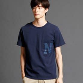ヴィタル ムッシュ ニコル vital MONSIEUR NICOLE レタードプリントTシャツ (67ネイビー)