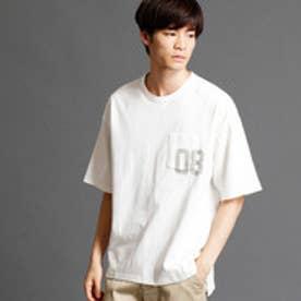 ヴィタル ムッシュ ニコル vital MONSIEUR NICOLE ナンバリングプリントTシャツ (09ホワイト)