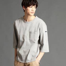 ヴィタル ムッシュ ニコル vital MONSIEUR NICOLE 胸ポケット6分袖Tシャツ (29グレー)