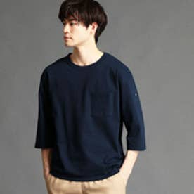 ヴィタル ムッシュ ニコル vital MONSIEUR NICOLE 胸ポケット6分袖Tシャツ (67ネイビー)