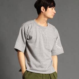 vital MONSIEUR NICOLE 袖プリントビッグTシャツ (29グレー)