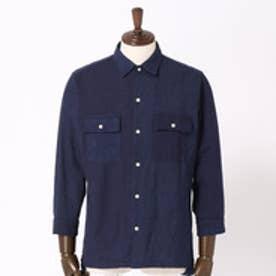 vital MONSIEUR NICOLE クレイジーパターンパナマメッシュシャツ (67ネイビー)