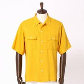 ヴィタル ムッシュ ニコル vital MONSIEUR NICOLE リネン混オープンカラーシャツ (20イエロー)