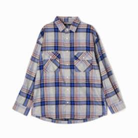ヴィタル ムッシュ ニコル vital MONSIEUR NICOLE ビッグシルエットチェックシャツ (29グレー)